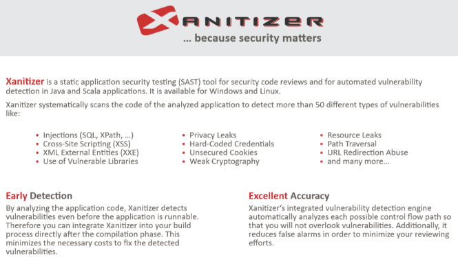 Read a short summary of the main features of Xanitizer.