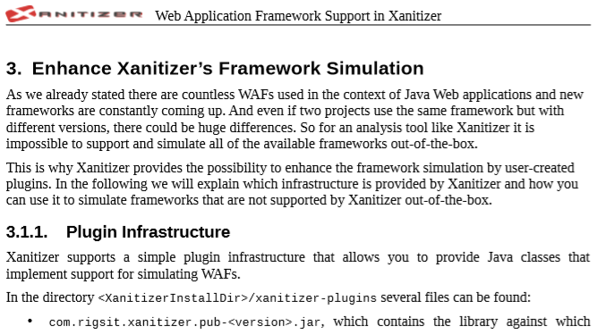 Read how you can use Xanitizer's API to simulate your internal frameworks.